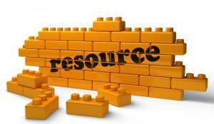 resource word on yellow brick wall